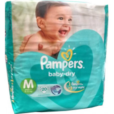 Pampers Medium Active Baby Diapers (Pack of 20)