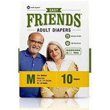 Friends Adult Diapers-m 10 Nos Pads