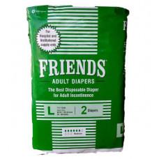 Friends Adult Diapers-l 2 Pcs