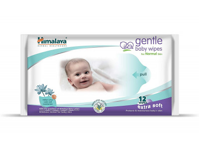 Himalaya Gentle Baby Wipes Extra Soft (Pack of 12)