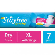 J&j Stayfree Secure Extra Large Sanitary Pads (Pack of 7)