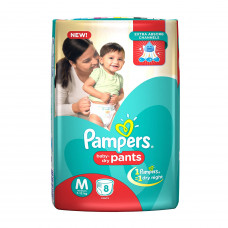 Pampers Medium Dry Pant Diapers -  New 8 nos
