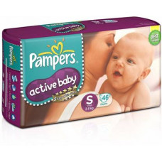 Pampers Active Baby Small Diapers (Pack of 46)