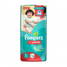 Pampers Dry Pants Large 9-14 kg Diapers (Pack of 42)