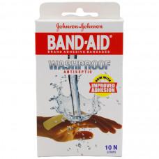 J&j Bandaid-wash Proof Antiseptic 10 Nos Bandaid