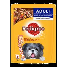 Pedigree Gravy Adult Grilled Liver Chunks Flavor with Vegetables 80 gm