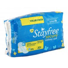 J&J Stayfree Secure Sanitary Pads (Pack of 20)