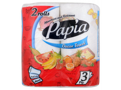 Papia Kitchen Towel 3 Ply (Pack of 2)