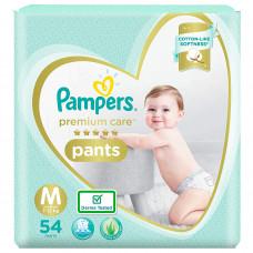 Pampers Premium Care Pants Medium Diapers (Pack of 54)