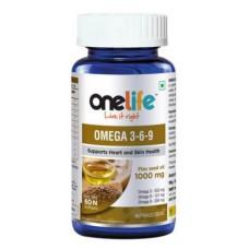 One Life Omega 3-6-9 1000 Mg 60 Tablets