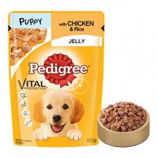 Pedigree Jelly Chicken & Rice Puppy -  80 gm
