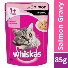 Whiskas Adult Jelly Salmon 85 gms