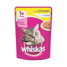 Whiskas Adult Jelly In Chicken 85 gms