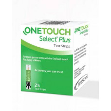 One Touch Select Plus Glucometer Strips (Pack of 25)