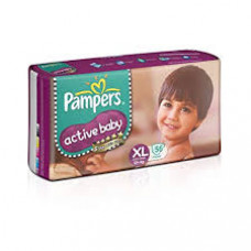 Pampers Active Baby XL Diapers (Pack of 56)