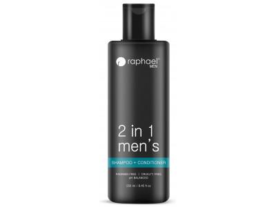 Raphael Mens 2-IN-1 Shampoo + Conditioner 250 ml