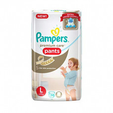 Pampers Premlum Care Pants Large Diapers (Pack of 58)
