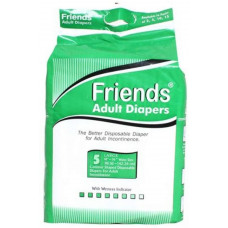 Friends Adult Diapers-l 5 Pads