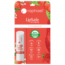 Raphael Lipsafe Spf-10 Strawberry 4.8 gm Lip Balm