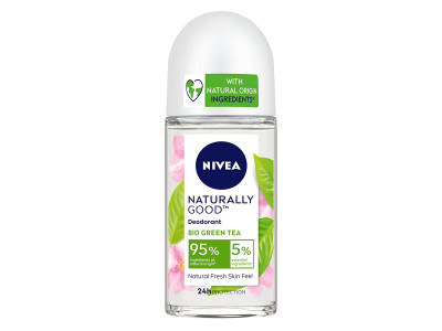 Nivea Naturally Good Bio Green Tea Roll On 50 ml