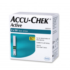 Accu-chek Active Glucose Strip (2x50 Strips) (Pack of 100)