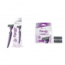 Bombay Shaving Company Defender Razor Sensitive Cartridges (Pack Of 2) 1 No