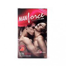 Manforce Strawberry Dotted  Condoms (Pack of 3)