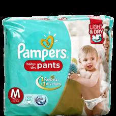 Pampers Dry Pants Medium Diapers (Pack of 20)